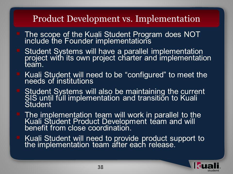 38 Product Development vs.