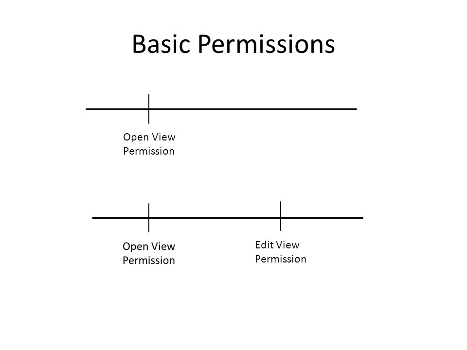 Basic Permissions Open View Permission Edit View Permission