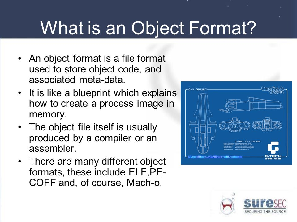 What is an Object Format.