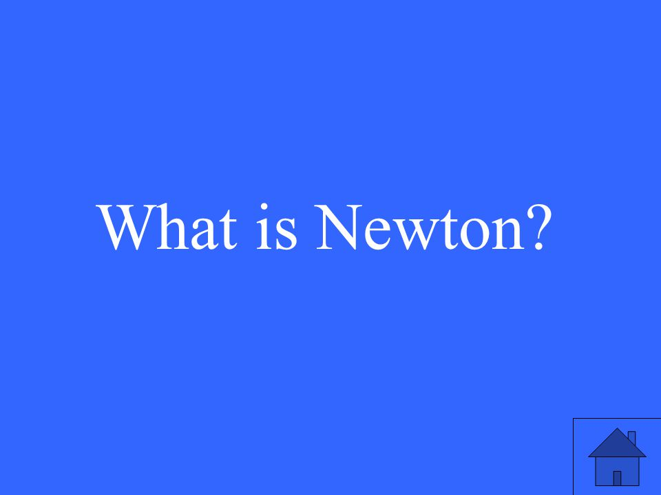 What is Newton