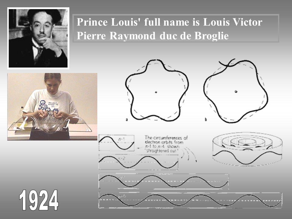 Prince Louis full name is Louis Victor Pierre Raymond duc de Broglie