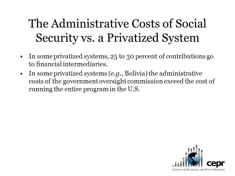 The Administrative Costs of Social Security vs.