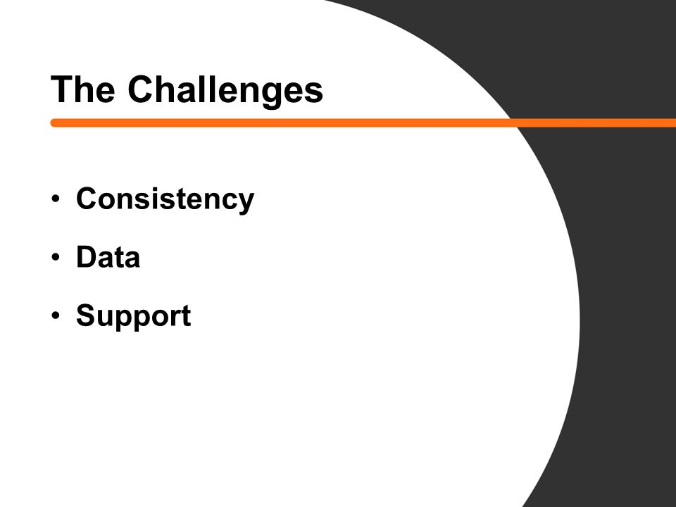 The Challenges Consistency Data Support