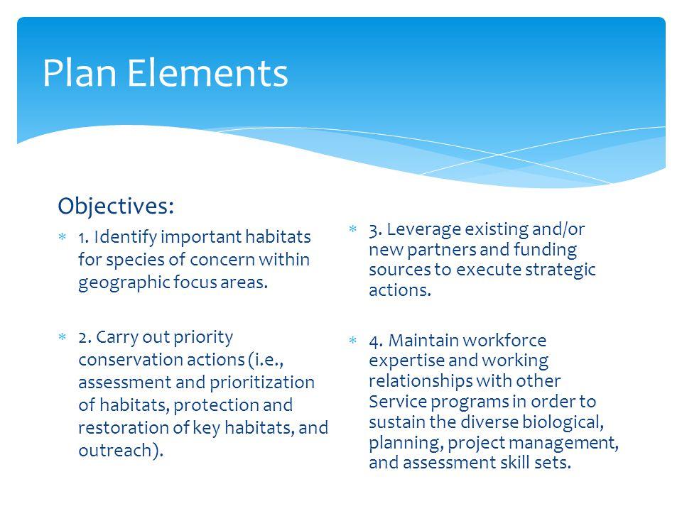 Plan Elements Guiding Principles:  1.