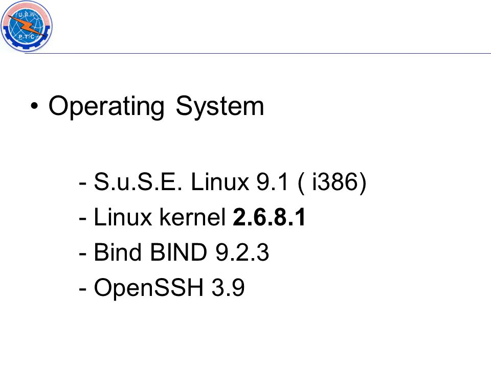 Operating System - S.u.S.E.