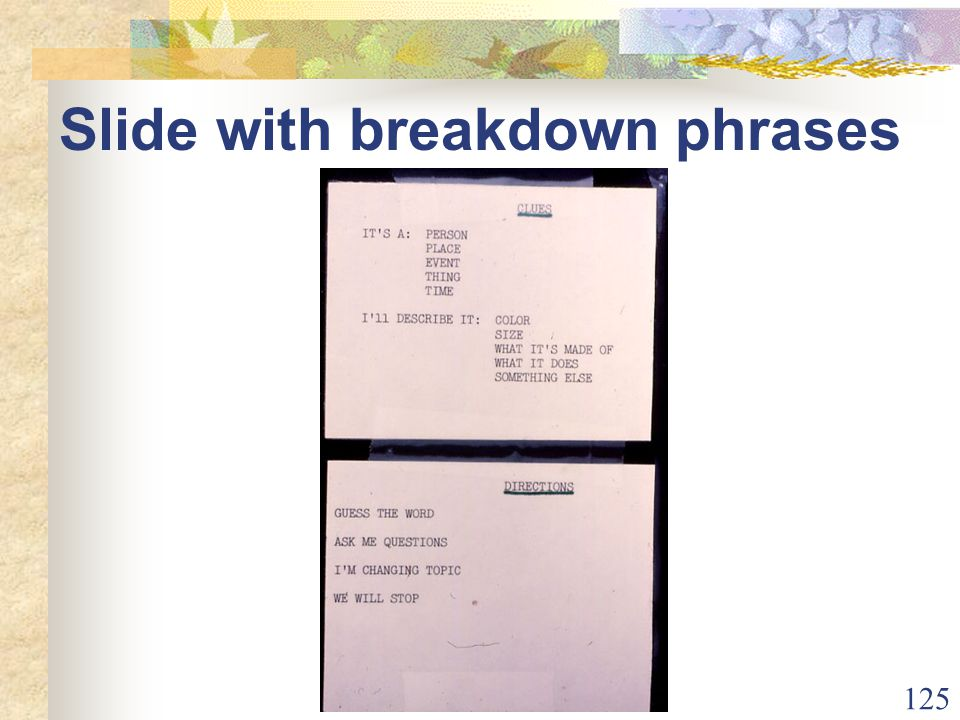 125 Slide with breakdown phrases