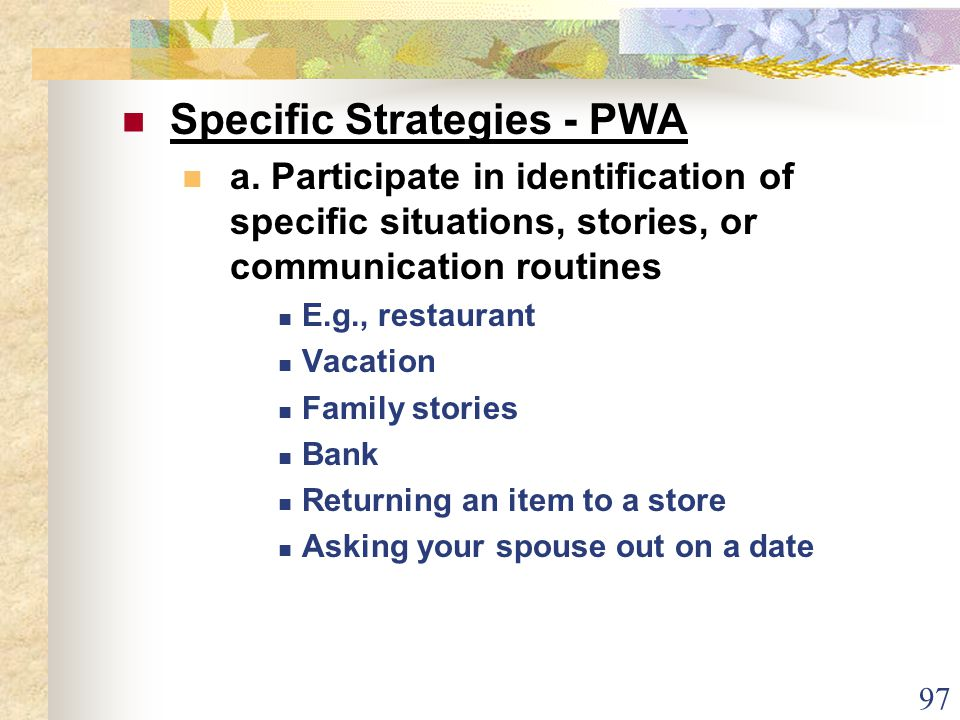 97 Specific Strategies - PWA a.