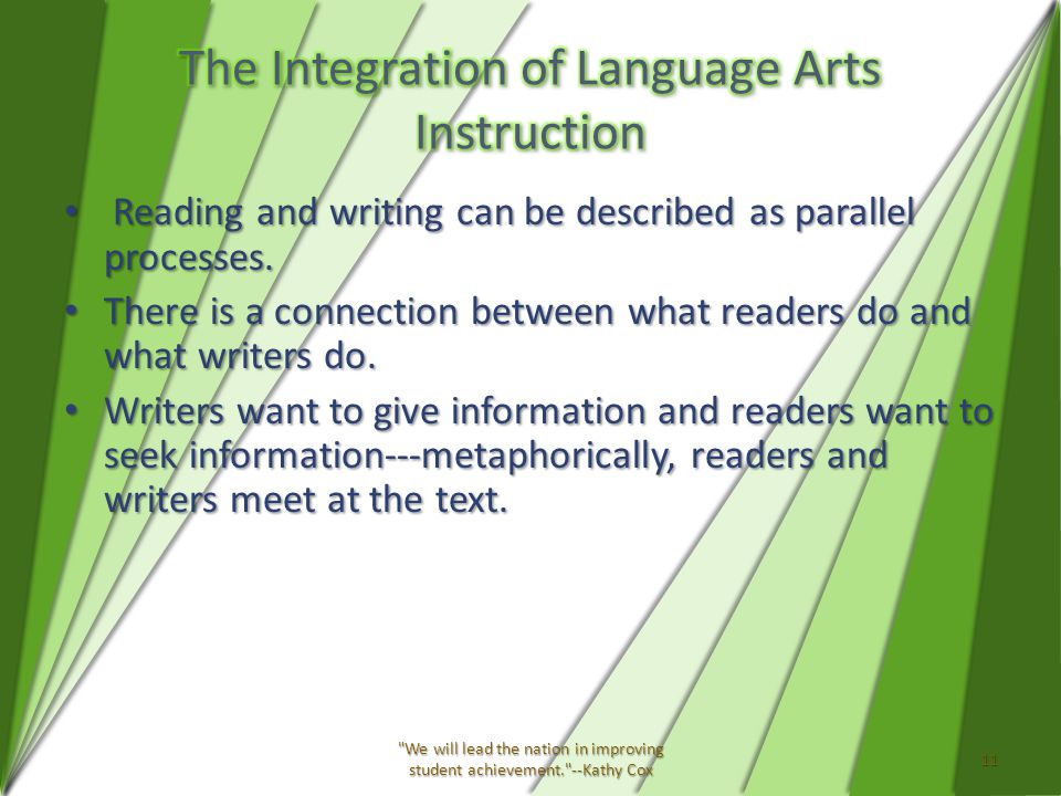 Reading and writing can be described as parallel processes.
