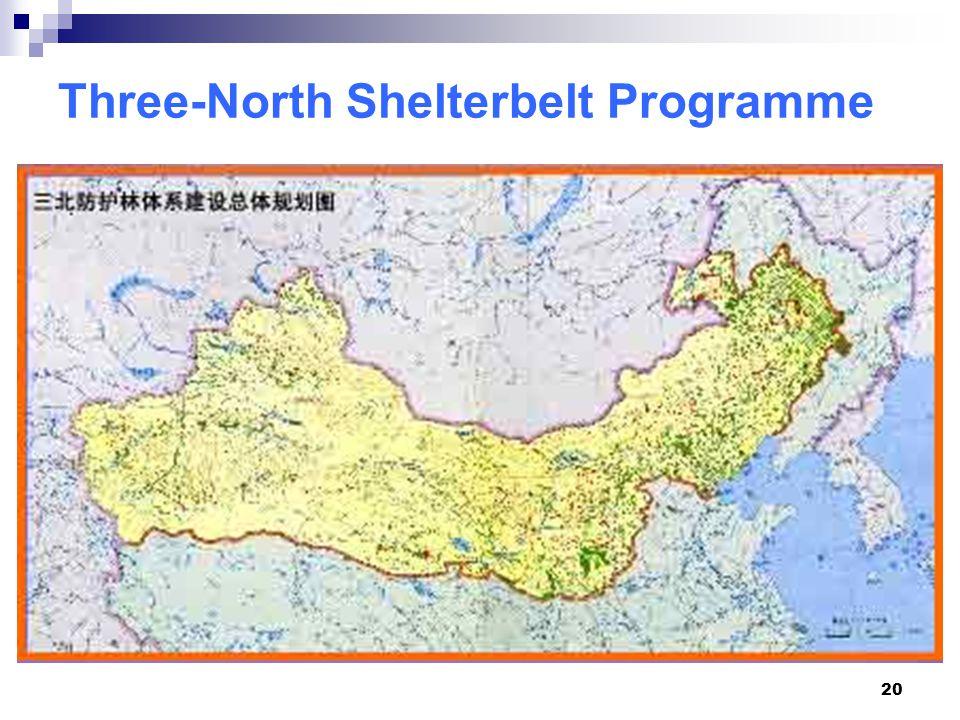 20 Three-North Shelterbelt Programme