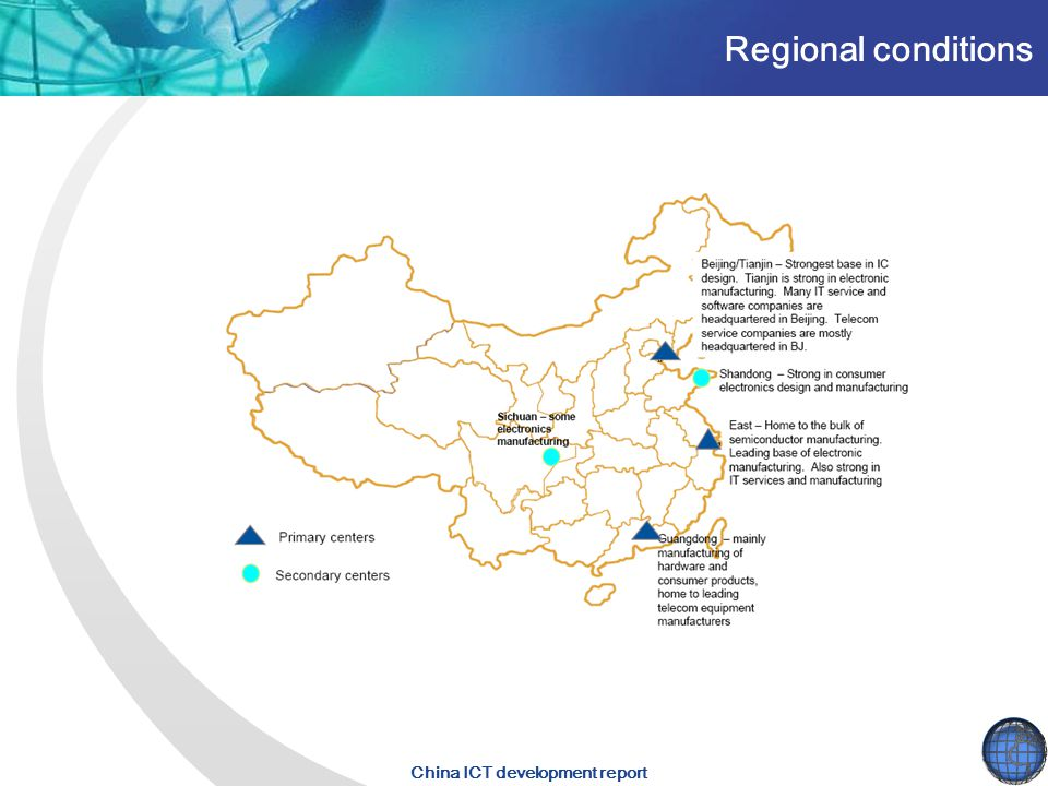 China ICT development report Regional conditions