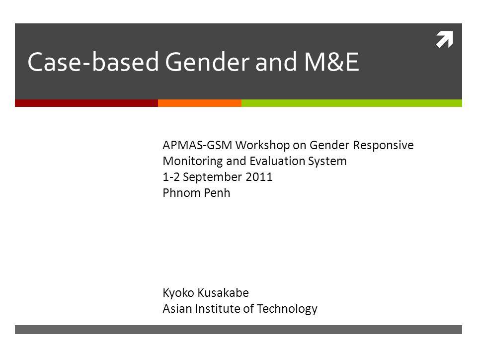 Key domains of change: Gender division of labor  Ms.