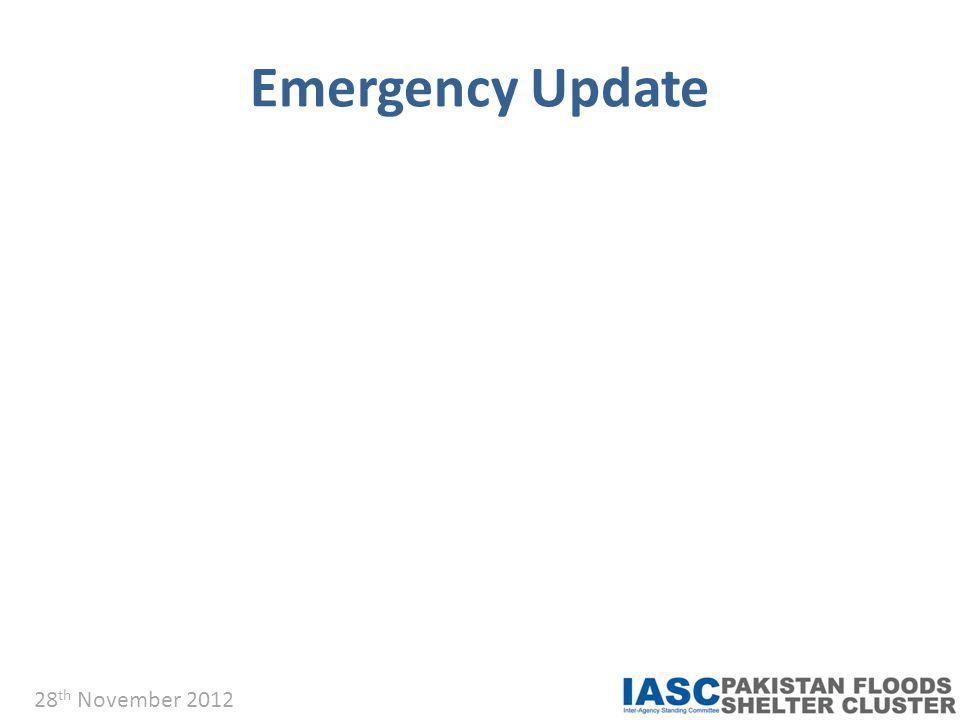 Emergency Update 28 th November 2012