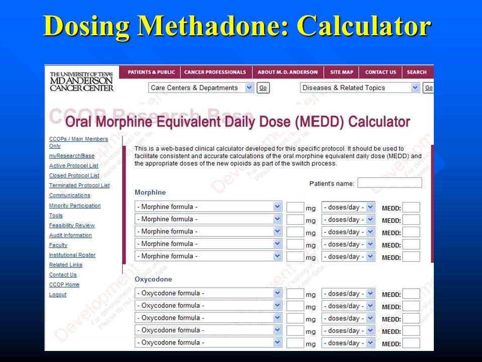 Dosing Methadone: Calculator