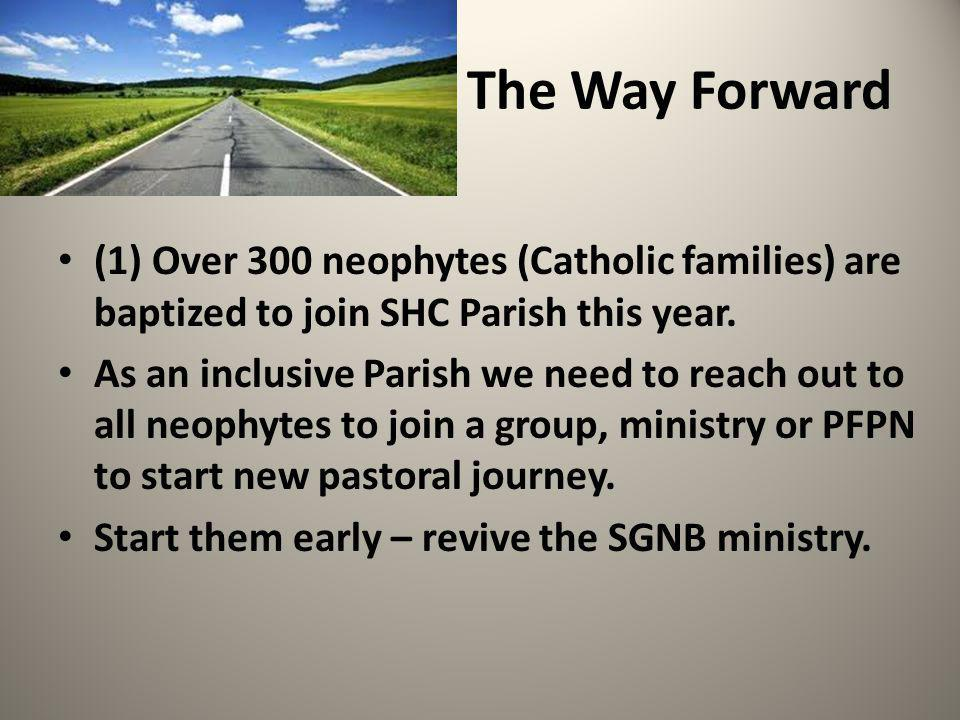 The Way Forward (1) Over 300 neophytes (Catholic families) are baptized to join SHC Parish this year.