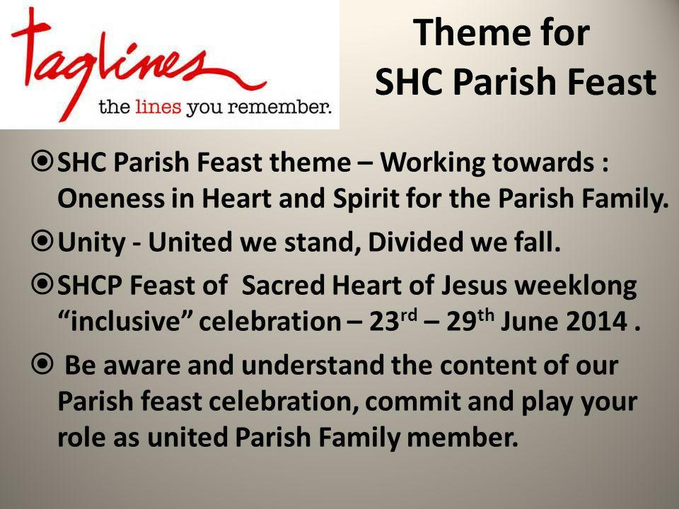 Parish Feast Week Long Celebration Triduum 23 rd -25 th June – 9.00 am to 9.00 pm - 36 hours of Novena with the Eucharist, prayers, Word of God, Holy hour, Dedication to the Sacred Heart of Jesus exposition of the blessed sacrament.