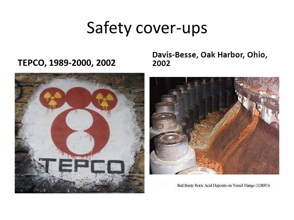 Safety cover-ups TEPCO, 1989-2000, 2002 Davis-Besse, Oak Harbor, Ohio, 2002