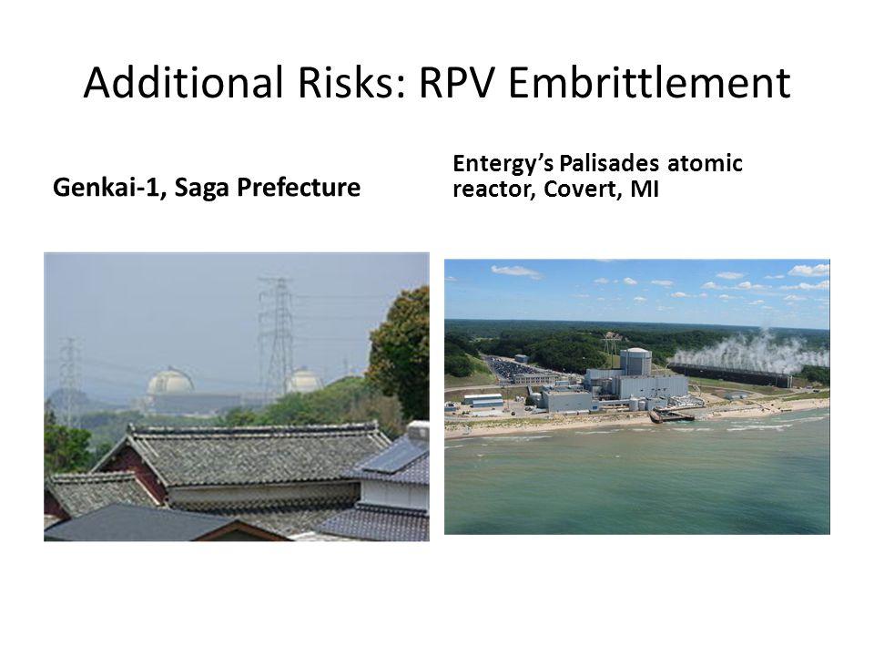 Additional Risks: RPV Embrittlement Genkai-1, Saga Prefecture Entergy's Palisades atomic reactor, Covert, MI