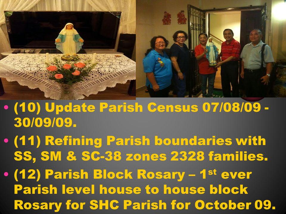 (10) Update Parish Census 07/08/09 - 30/09/09.