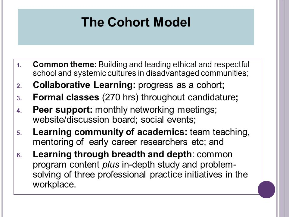 1. Common theme: Building and leading ethical and respectful school and systemic cultures in disadvantaged communities; 2. Collaborative Learning: pro
