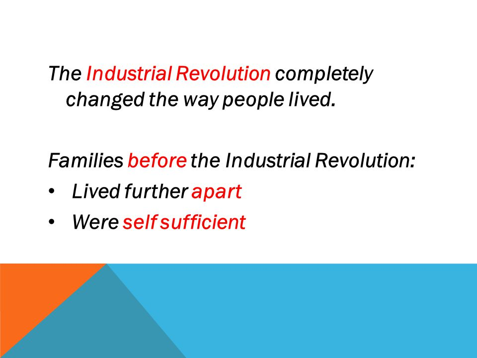 Because of the Industrial Revolution......people moved to cities to be near factories. CITY LIFE