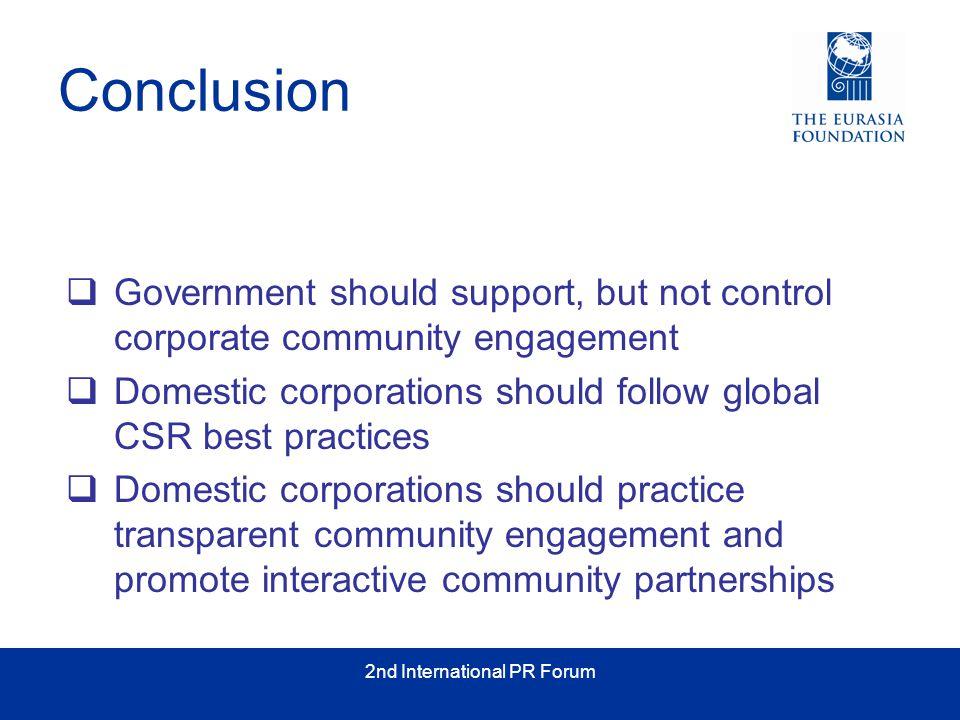High Impact Corporate Social Responsibility for Kazakhstan 2 nd International PR Forum, Almaty May 16, 2006