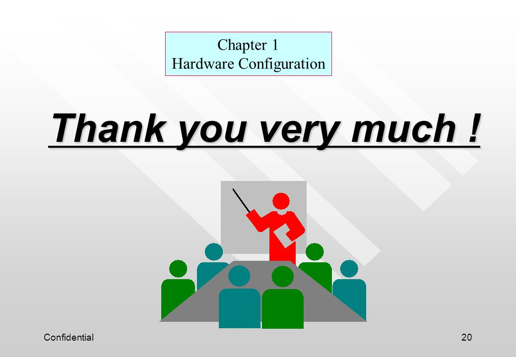 Confidential20 Thank you very much ! Chapter 1 Hardware Configuration