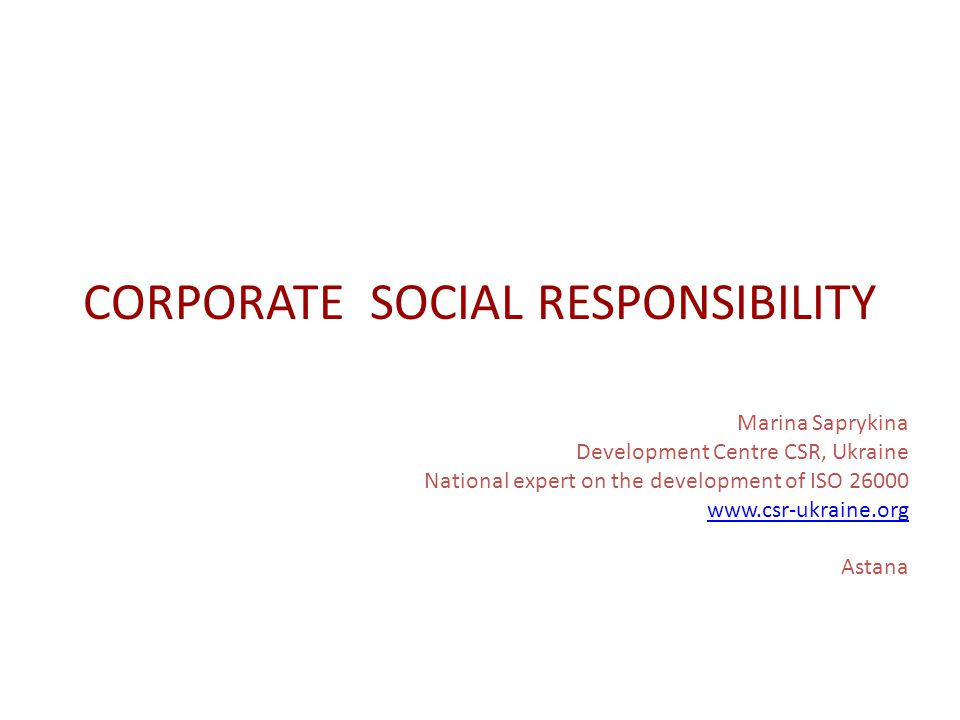 SOCIALLY RESPONSIBLE COMPANY Structure Strategy Program/policies Monitoring and assessment Social report