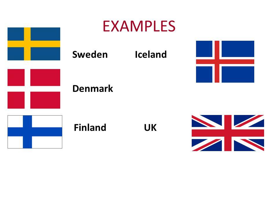 EXAMPLES Sweden Iceland Denmark Finland UK