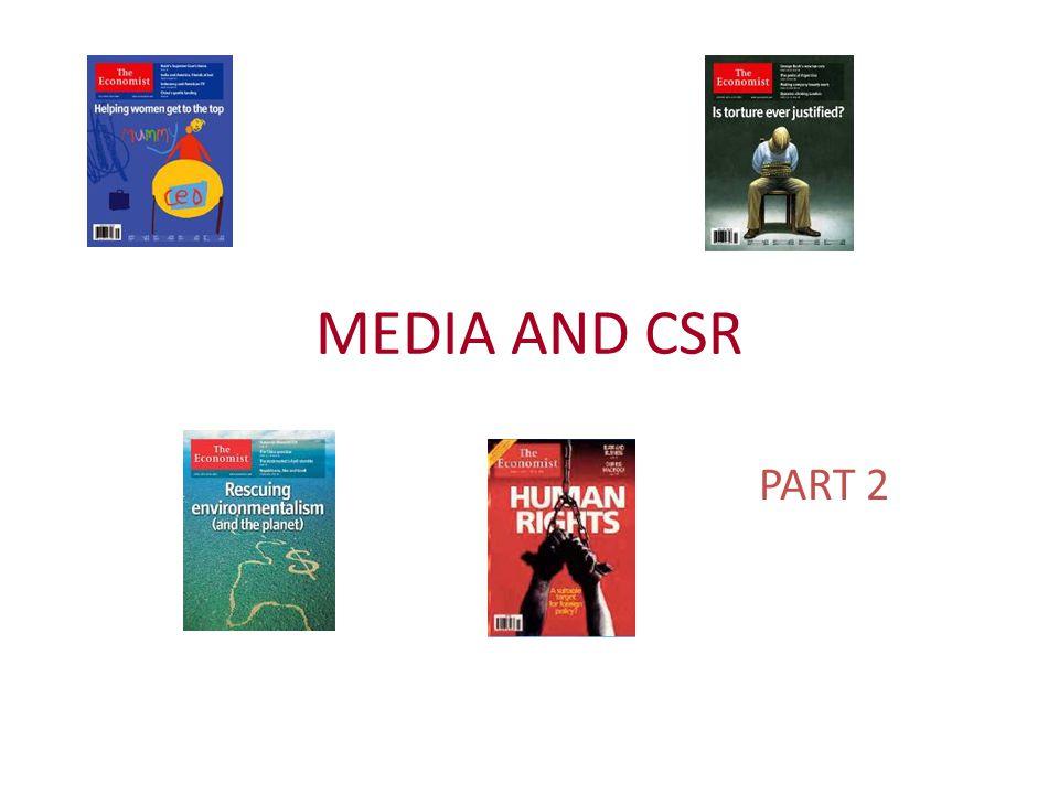 MEDIA AND CSR PART 2