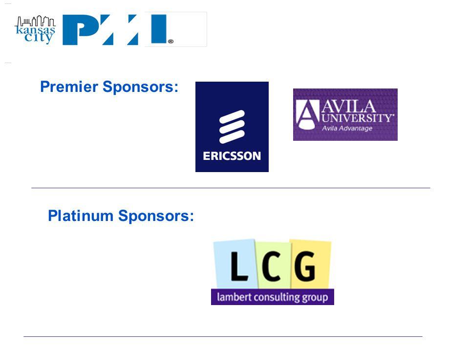 Premier Sponsors: Platinum Sponsors: