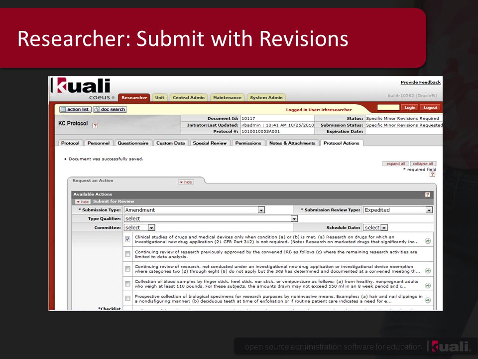 open source administration software for education Researcher: Submit with Revisions