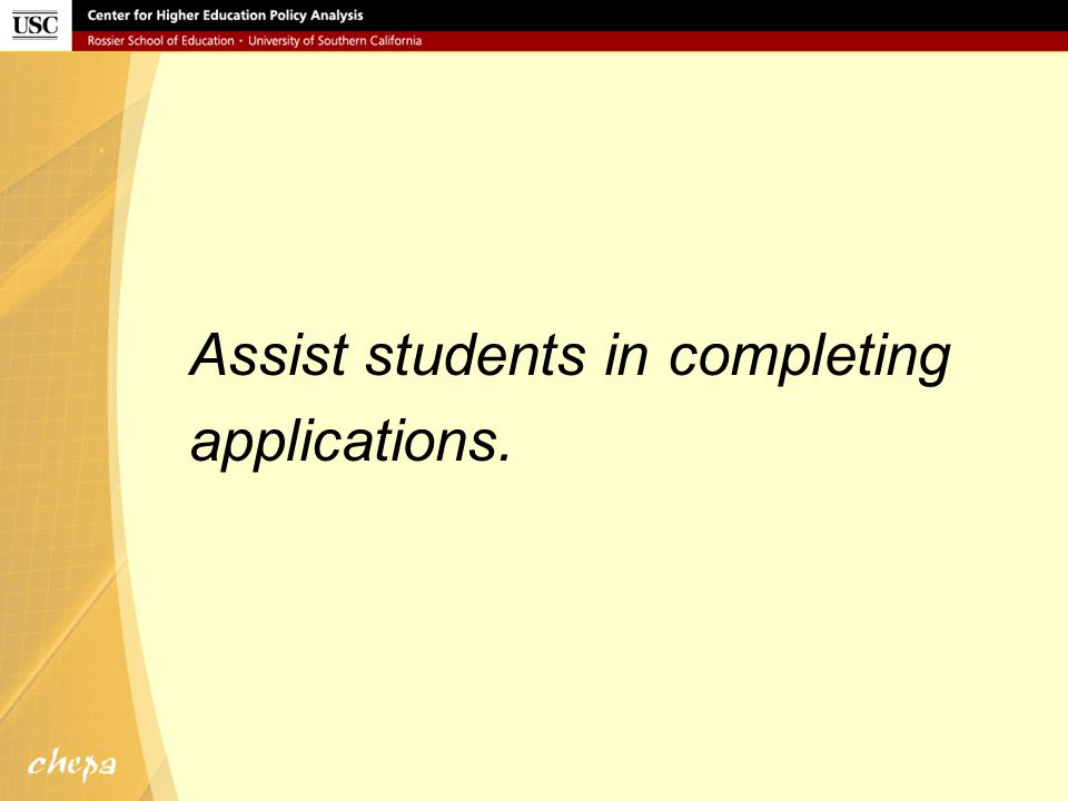 Assist students in their college search.
