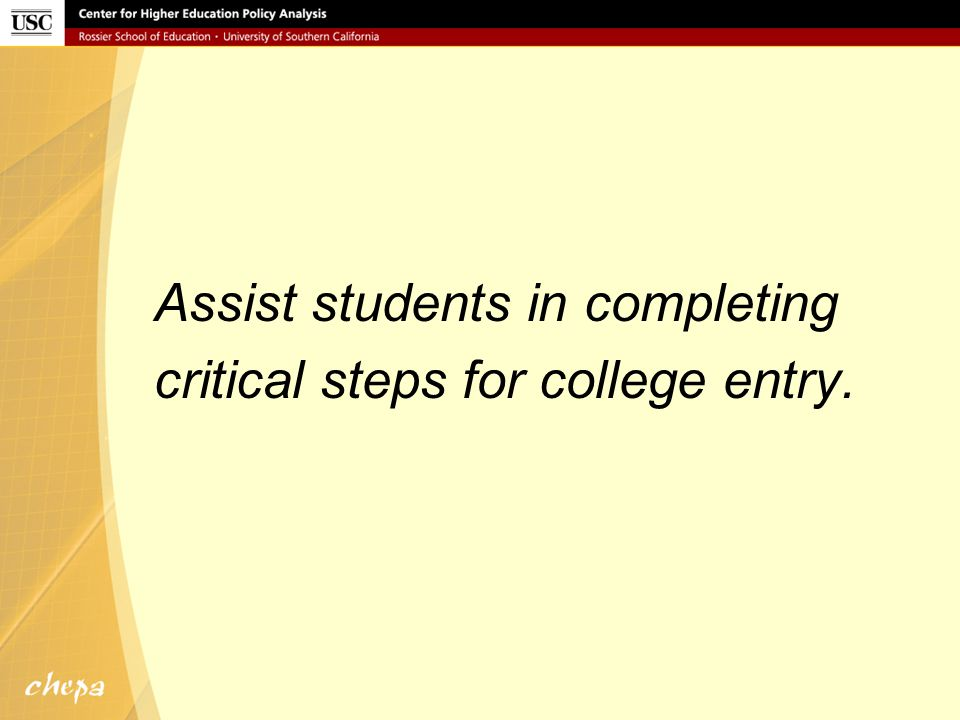 Assist students in completing applications.