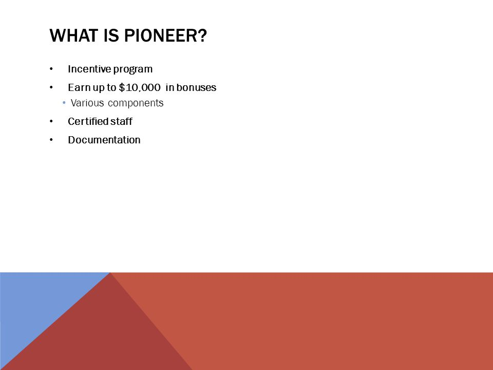 WHAT IS PIONEER.