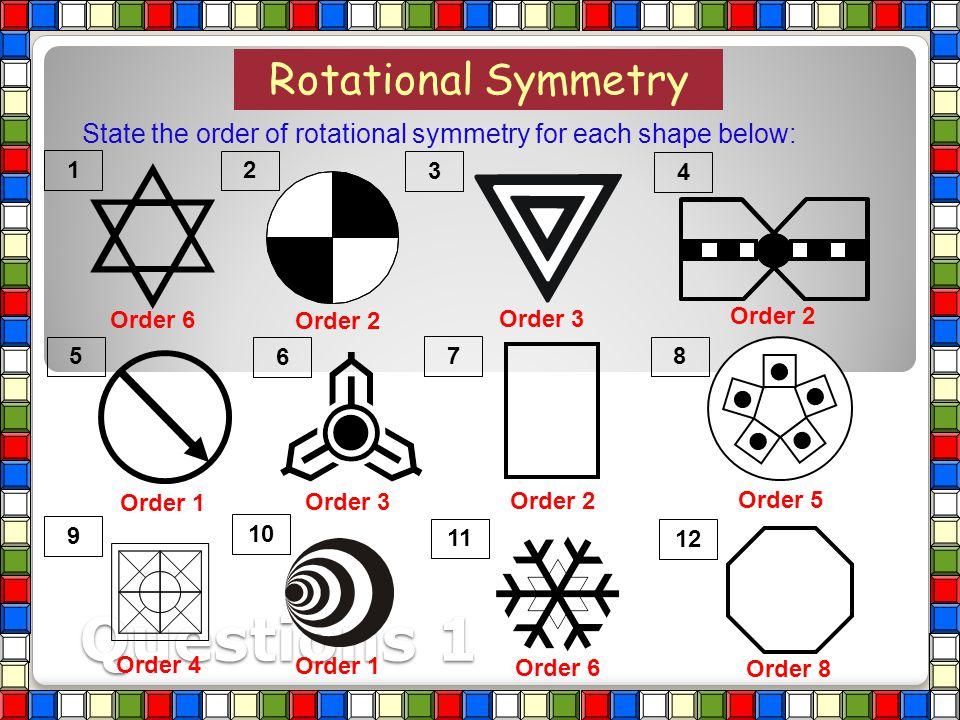 2 1 A rhombus has rotational symmetry of order ? Rhombus 2