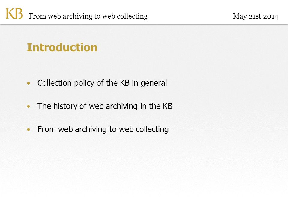 What not to select.Technical: databases, webshops,… Publications vs.