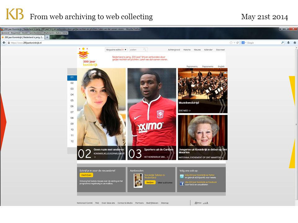 From web archiving to web collectingMay 21st 2014