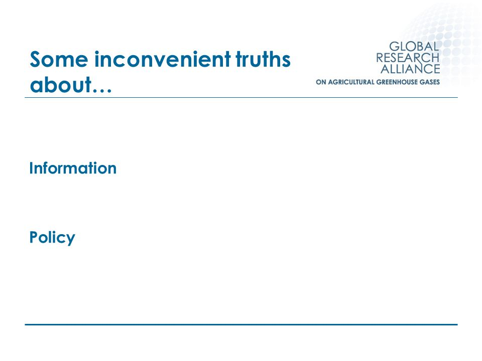 Some inconvenient truths about… Information Policy