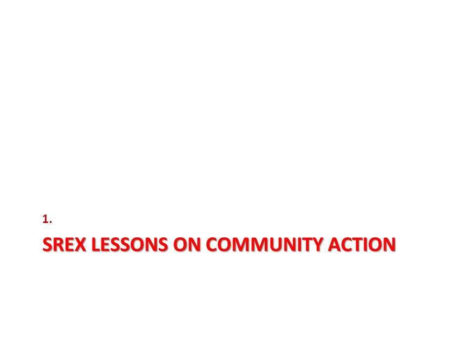 SREX LESSONS ON COMMUNITY ACTION 1.