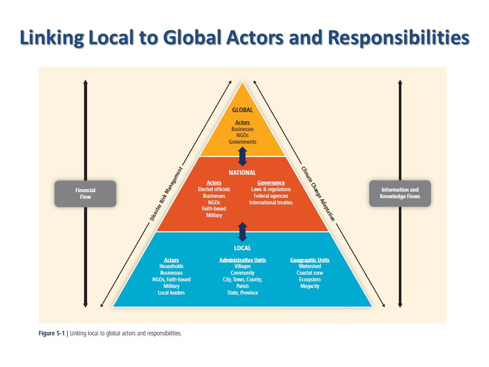 Linking Local to Global Actors and Responsibilities