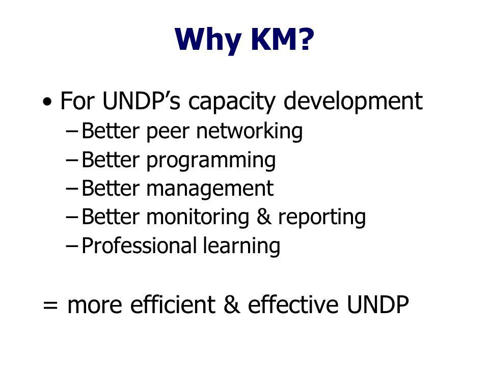 Why KM.