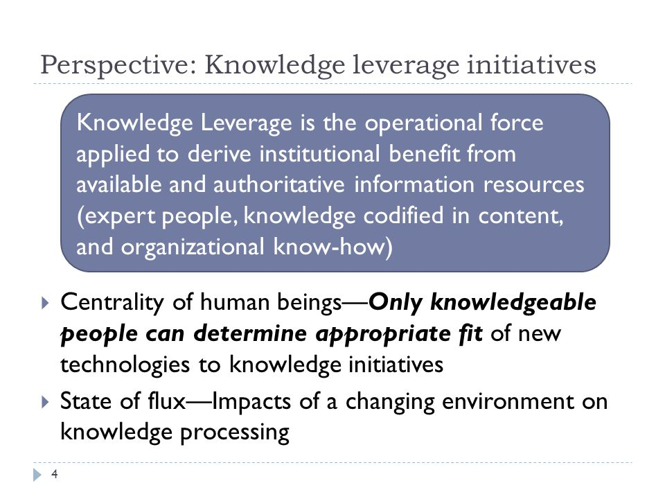 Questions: Technology in your organization…  What role has technology played in your knowledge initiatives.