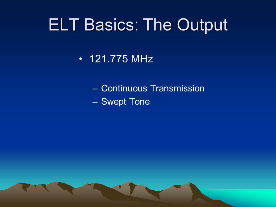 The Old Little L-Per The Old Little L-Per may produce needle movements with no ELT signal present It may track random noise sources or interference from other radio transmitters