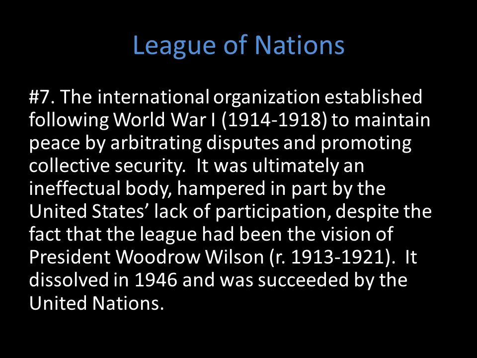 League of Nations #7.