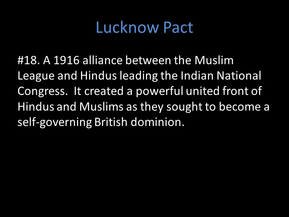Lucknow Pact #18.