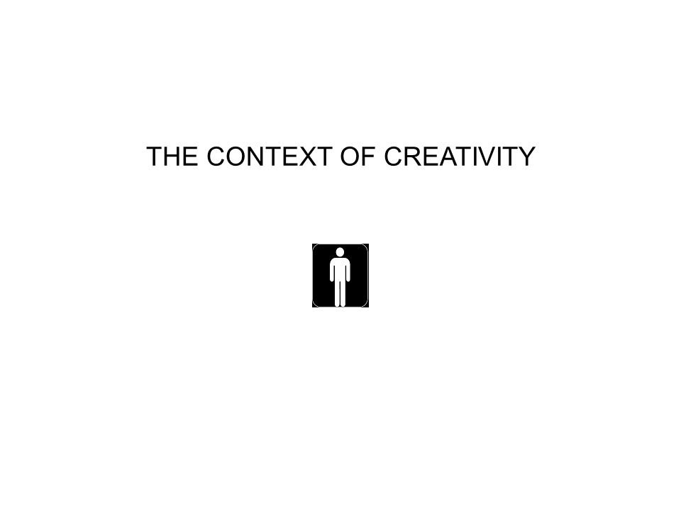 THE CONTEXT OF CREATIVITY