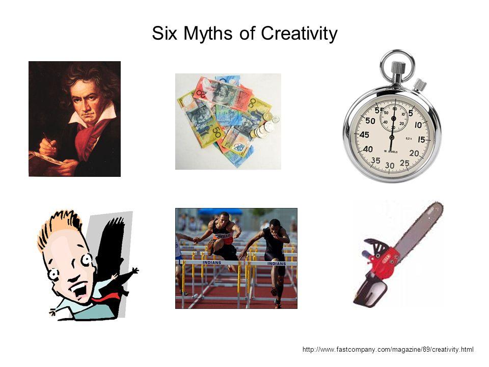 Six Myths of Creativity http://www.fastcompany.com/magazine/89/creativity.html