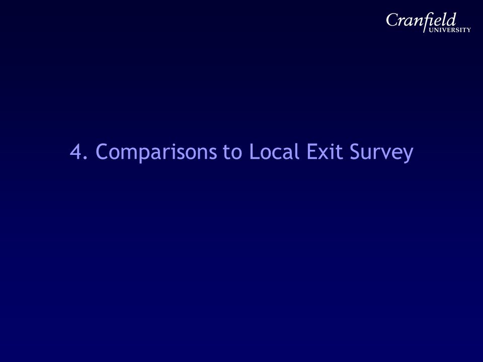 4. Comparisons to Local Exit Survey