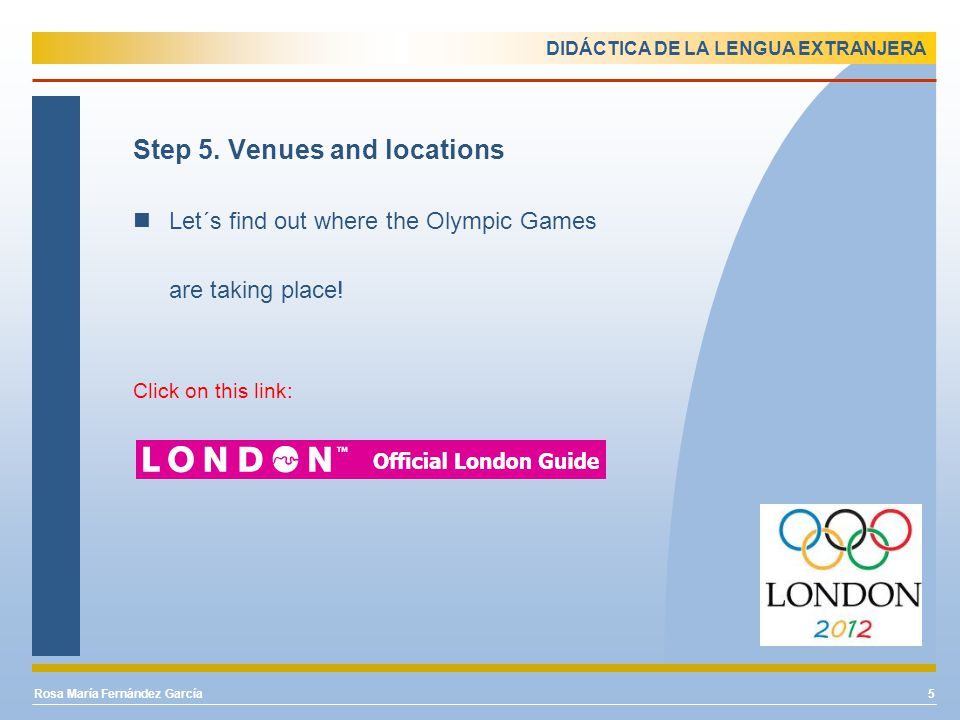 DIDÁCTICA DE LA LENGUA EXTRANJERA Step 6.Sports 1.