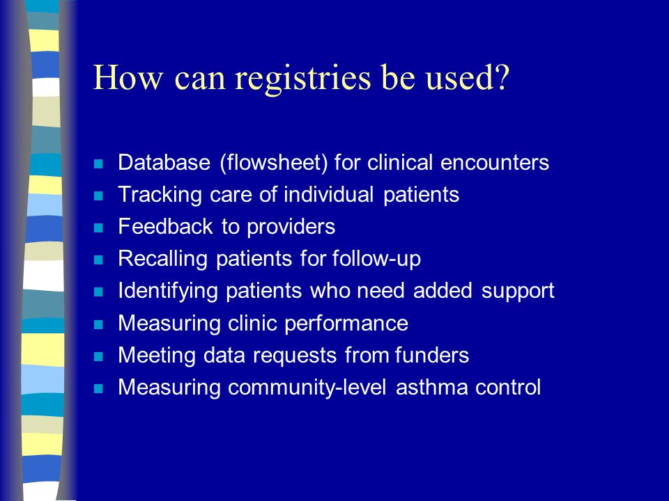 How can registries be used.